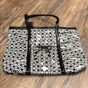 Vera Bradley black & white tote bag
